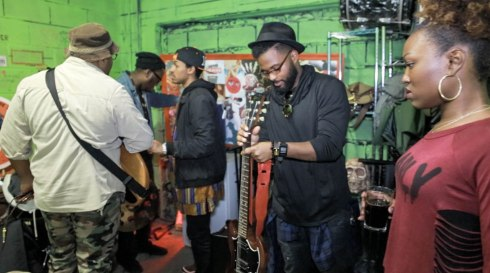 Hazie Blu and the crew backstage (Signature Filmworks Photography)